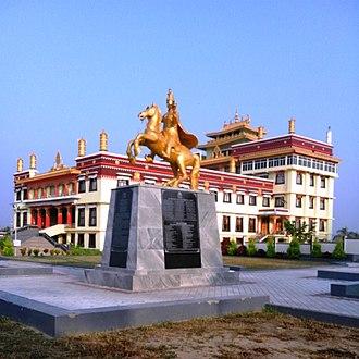 Tibetan diaspora - Tibetan monastery at Byalakuppe, India.