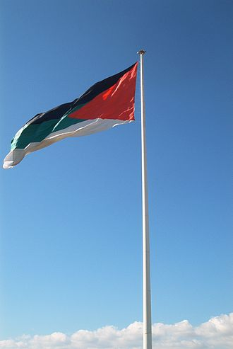 Flag of the Arab Revolt - The flag of the Arab revolt- Aqaba 2006