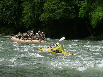 Rafting - Whitewater Rafting along the Cagayan de Oro River, Philippines.