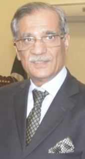Mian Saqib Nisar 25th Chief Justice of Pakistan