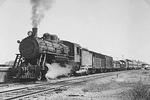 Mixed train - A mixed train at Port Pirie, South Australia in 1951.
