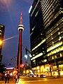 CN Tower Nightview - Tour CN de nuit - panoramio.jpg