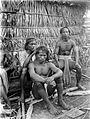 COLLECTIE TROPENMUSEUM Dajak mannen reinigen elkaars haar Bulungan Borneo TMnr 10005509.jpg