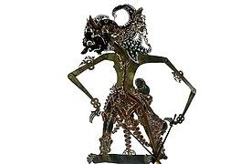 COLLECTIE TROPENMUSEUM Wajangfiguur de figuur Antasena voorstellend TMnr 1772-716.jpg