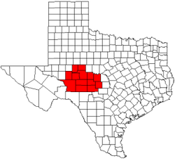 Texas Counties in the Concho Valley