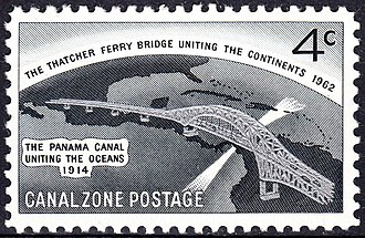Bridge of the Americas - Thatcher Ferry Bridge, 4c Commemorative Issue of 1962</center>