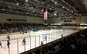 Cadet Ice Arena - Image: Cadet Field House Ice Arena USAFA Colorado Springs