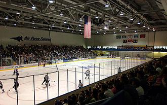 Cadet Ice Arena - Image: Cadet Field House Ice Arena USAFA Colorado Springs