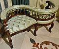 Cadira tipus confident, avantcambra del palau del marqués de Dosaigües.JPG