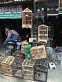 Caged birds for sale at Jatinegara Market.jpg