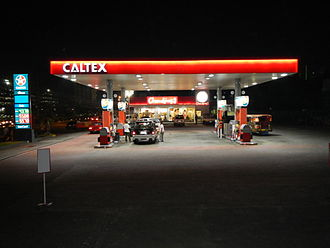 Caltex - Caltex service station in Quezon City, Philippines.
