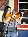 Camellia Delk on viola MACRoCk 2009 Little Grill Collective Harrisonburg VA April 2009.jpg