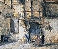 Camille Pissarro Die Küche in Piettes Haus 1874.jpg