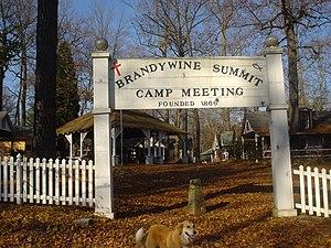 Brandywine Summit Camp Meeting - Brandywine Summit Camp Meeting entrance, November 2009
