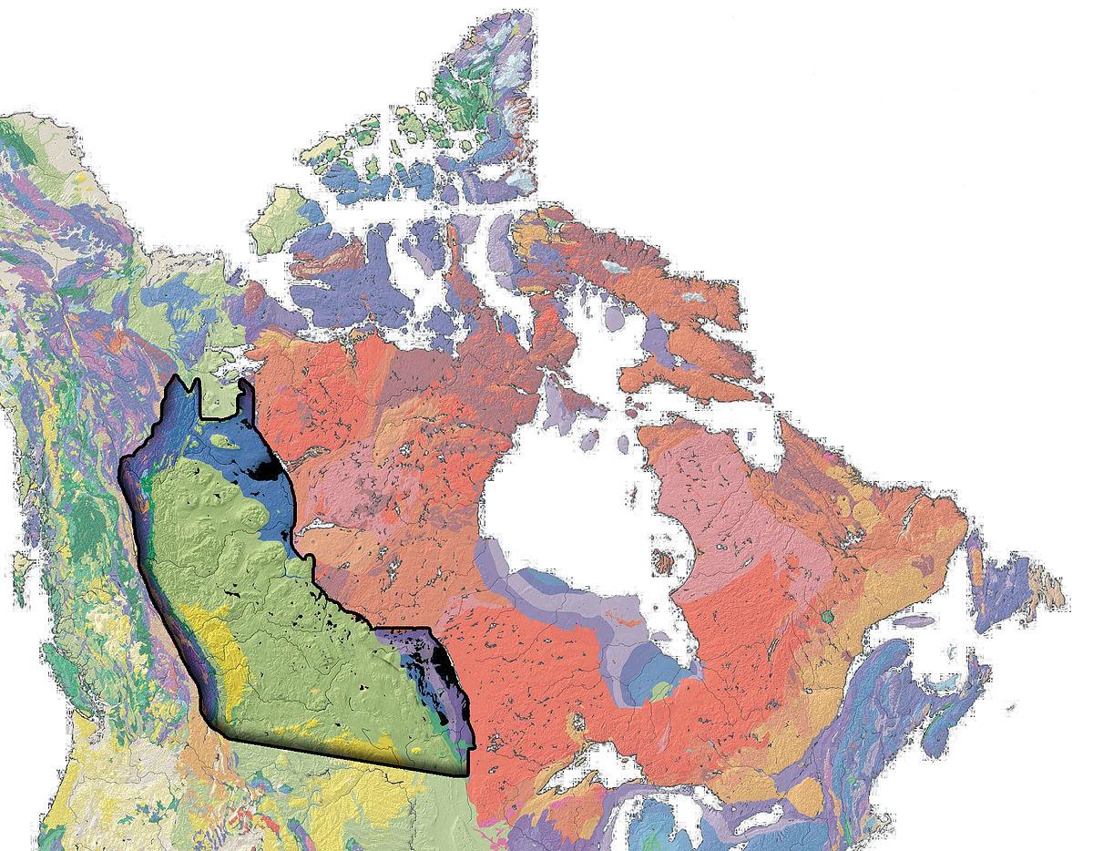 Western Canadian Sedimentary Basin Wikipedia - Map of western canada and us