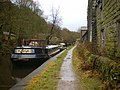 Canal moorings behind Nanholme Mill - geograph.org.uk - 1126933.jpg