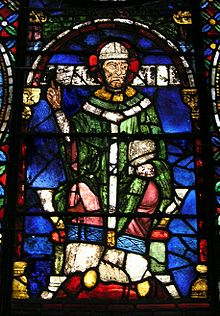 theobald of bec medieval stained glass window depicting thomas becket
