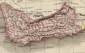 Battle of Blaauwberg - Map of Cape Colony in Southern Africa