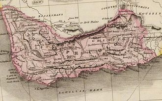 Cape Colony - Map of the Cape of Good Hope in 1809.