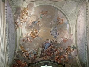 Vincenzo Meucci - Fresco at Cappella Brancacci, Florence
