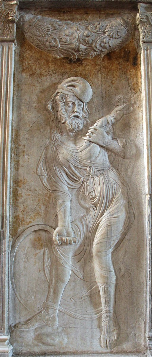 Cappella dello zodiaco, agostino di duccio, segni e pianeti 08,3 saturno 2