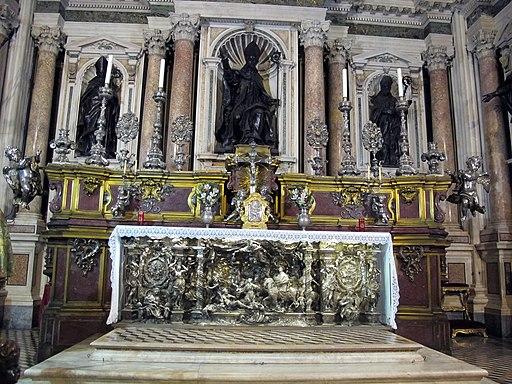 Cappella di s. gennaro, altare maggiore