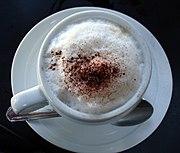 Foam on a cappuccino