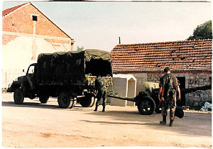 Battle of the Miljevci Plateau - An RSK artillery piece captured on the Miljevci Plateau