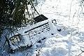 Car radiator grille under snow at Gatton, Surrey.jpg