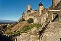 Carcassonne - Montée de la Porte d'Aude - View NE on Porte d'Aude.jpg