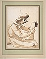 Caricature of a Seated Man Reading MET DP810700.jpg