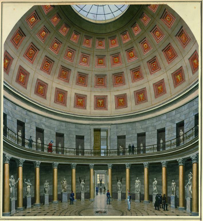 La rotonde du musée inspirée du Panthéon de Rome.