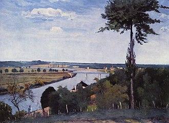 Carl Fredrik Hill - Seine landscape and poplars, 1877.