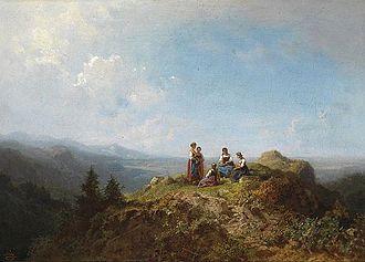 Carl Spitzweg - Dirndln auf der Alm, c. 1870s