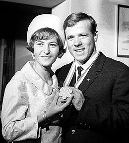 Carlo Senoner with wife 1966.jpg