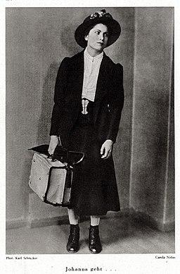 Carola Neher als 'Johanna' - Karl Schrecker, 1930