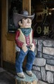 Carved cowboy outside Doc Holliday's Saloon in Glenwood Springs, Colorado LCCN2015633576.tif