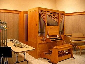 Casavant Frères - Casavant practice organ in Salt Lake Assembly Hall.