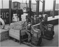 Cases of American spare parts arriving at an English ordnance center as part of lend-lease shipment from the USA.... - NARA - 196326.tif