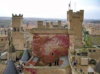 Palace of the Kings of Navarre of Olite - The hanging gardens