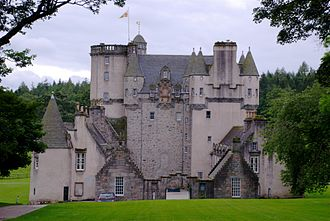 Castle Fraser - A rear view of the castle.