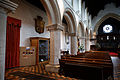 Castle Hedingham, St Nicholas' Church, Essex England, nave north aisle.jpg