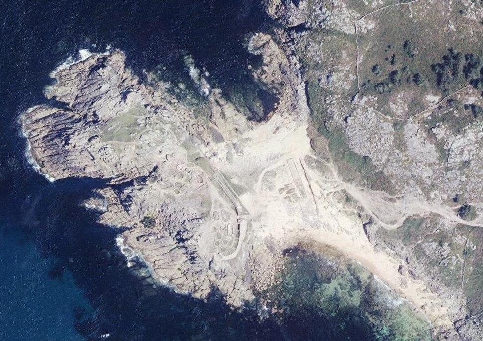 Castro de Baroña, 2014. PNOA cedido por © Instituto Geográfico Nacional