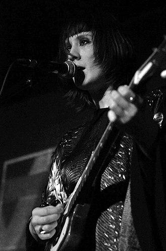 Cate Le Bon - Le Bon performing at The Arch, Village Underground, London on 23 April 2012