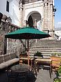 Catedral Metropolitana (Quito), the café facing Plaza de la Independencia pic.JPG