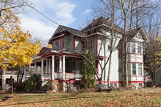 Moxham Historic District - Cauffiel House, an 1865 Queen Anne style urban homestead in the district