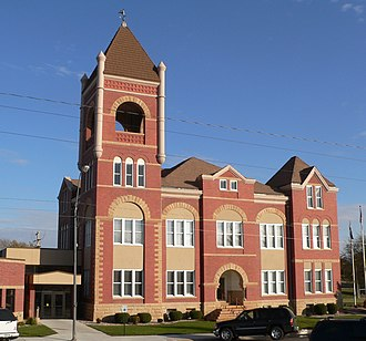 National Register of Historic Places listings in Cedar County, Nebraska - Image: Cedar County, Nebraska courthouse from NW
