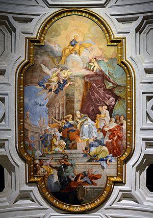 File:Ceiling in San Peter in Vincula (Rome)