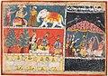 Central India, Malwa - A page from the Bhagavata Purana- Indra sends a torrent of rain; Krishna li - 2018.134 - Cleveland Museum of Art.jpg