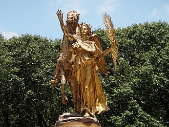 Saint-Gaudens double eagle - Saint-Gaudens's figure of Victory, part of the Sherman monument in New York City, on which the design for the obverse of the double eagle was based